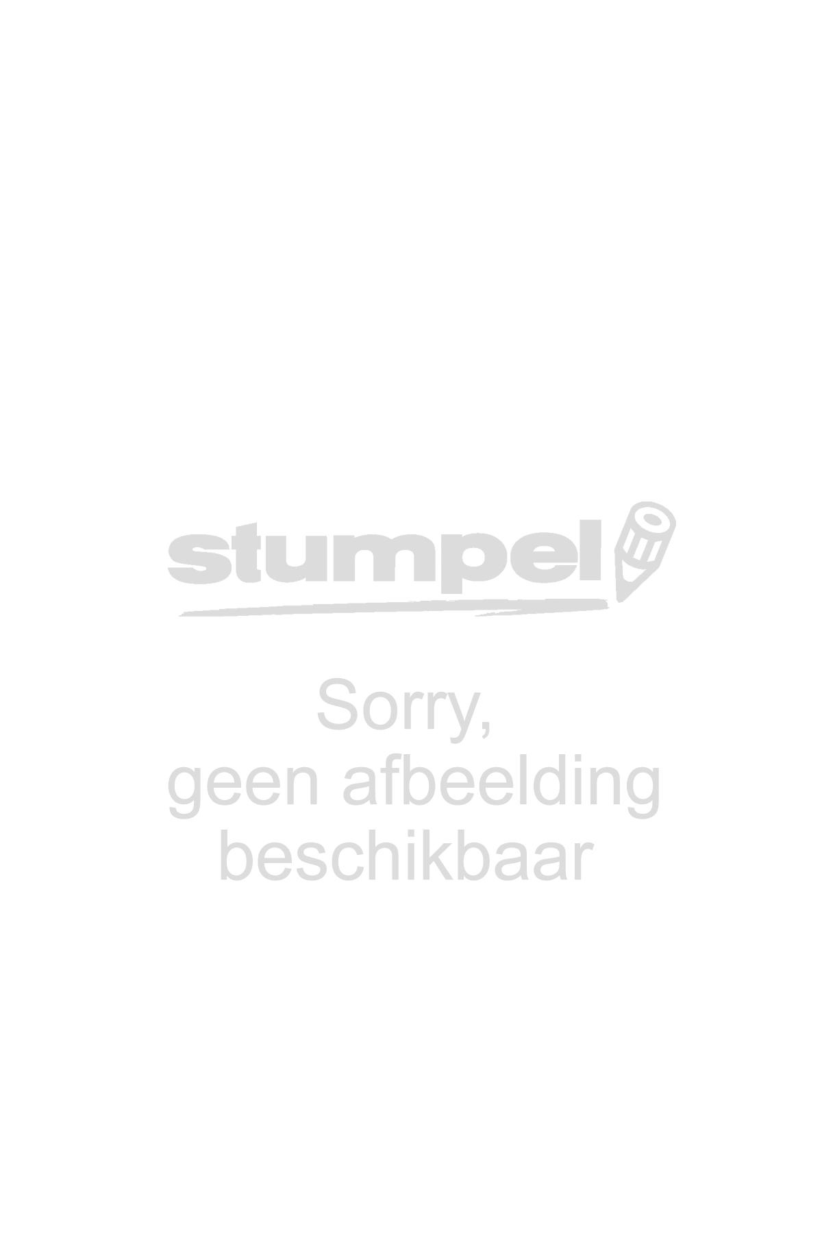 Labelprintertape Brother TZ253 24mm wit/blauw
