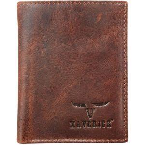 Portomonnee Maverick Secret wallet RFID donkerbruin 2 cc