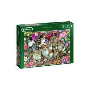 Puzzel Falcon Floral Cats 1000 stukjes