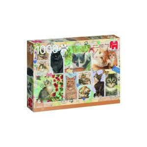 Puzzel Franciens Katten Stamps 1000