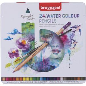 bruynzeel-expression-blik-24-aquarelpotloden-met-penseel-10932500