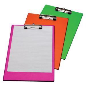 klembord-a4-folio-met-100mm-klem-neon-roze-316159