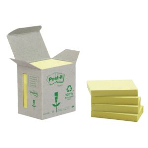 post-it-653-recycled-38x51mm-geel-ds-á-6-stuks-392507