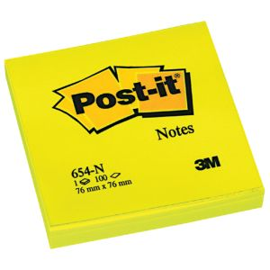 post-it-memo-3m-654-neon-geel-76x76mm;-blok-100vel-392552