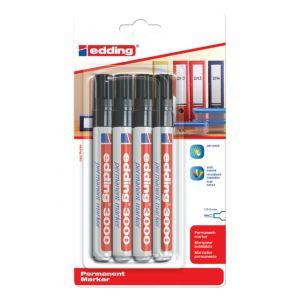 viltstift-edding-3000-rond-zwart-1-5-3mm-blister-4-stuks-630051