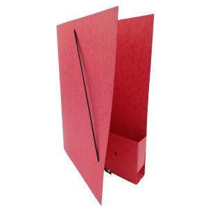 Dossiermap voor de advocatuur rood smal met elastosluiting, insteekhoesje en strookje (per 16 bestellen)