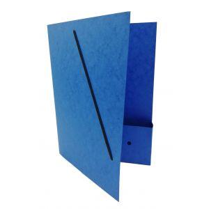 Dossiermap voor de advocatuur blauw smal met elastosluiting, insteekhoesje en strookje (per 16 bestellen)