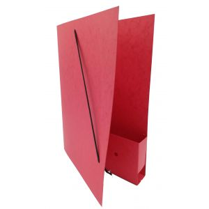 Dossiermap voor de advocatuur rood breed met elastosluiting, insteekhoesje en strookje (per 16 bestellen)