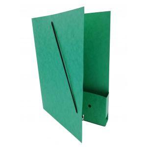 Dossiermap voor de advocatuur groen breed met elastosluiting, insteekhoesje en strookje (per 16 bestellen)