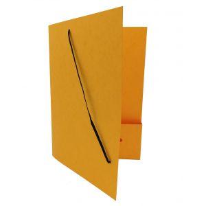 Dossiermap voor de advocatuur geel breed met elastosluiting, insteekhoesje en strookje (per 16 bestellen)