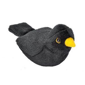 Pluche vogel met geluid - MEREL