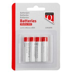 Batterij Budget AAA alkaline 1.5V blister à 4 stuks