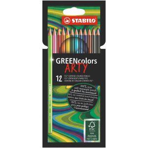 kleurpotloden-greencolors-etui-12-stuks-stabilo-10960993