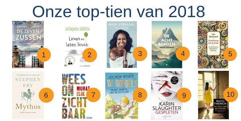 Boeken top 10 van 2018